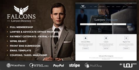 themeforest lawyer falcons directory for lawyers law firms by uouapps