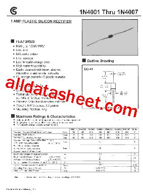 1n4004 siliciumdiode datasheet 1n4004 datasheet pdf fuji electric