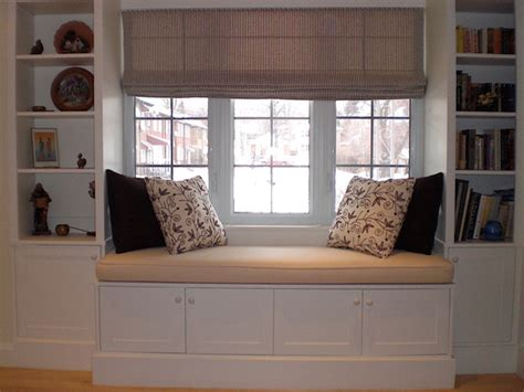 window seat bookshelf hertle avenue custom window seat and bookcase