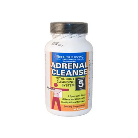Wellness Detox Cleansing by Health Plus Adrenal Cleanse 90 Capsules Wellness