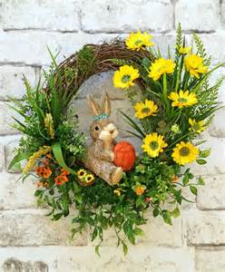 Grapevine Floral Design Home Decor The by Spring Wreath Bunny Wreath Front Door Wreath Silk Floral