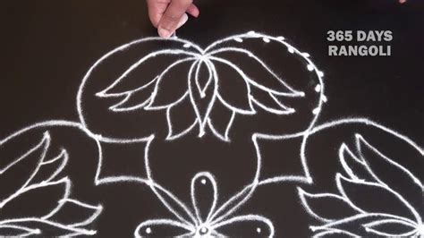 lu kolam lotus rangoli design with colours flower rangoli with 9