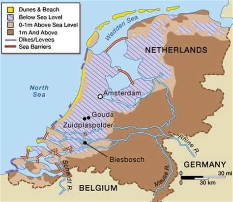 netherlands map sea level expedition earth the netherlands a low lying country
