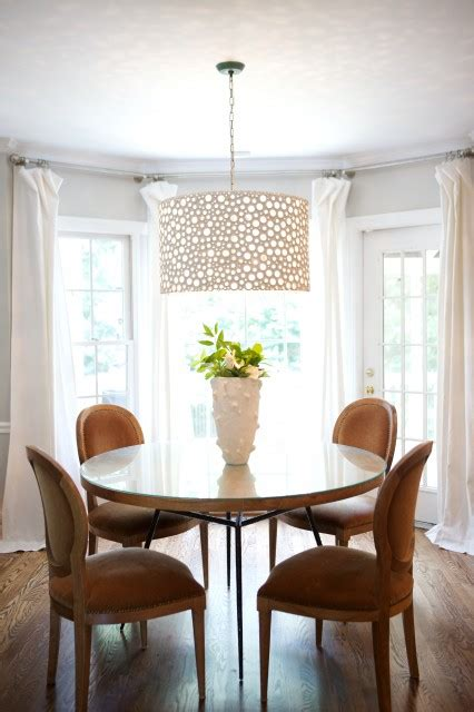 dining room table chandeliers oly studio meri drum chandelier transitional dining room garrett design