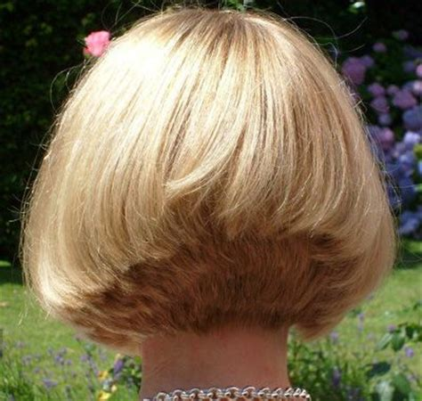 short hair back i really like the neckline of this it s stacked bob haircut back view i really like