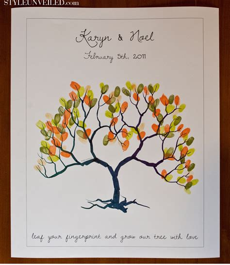 wedding tree guest book free template thumbprint quotes quotesgram