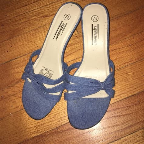 expressions shoes 77 expressions shoes denim slip on shoes mini