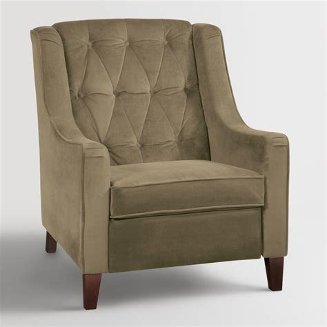 tufted high back bench coffee victoria velvet tufted high back chair world market