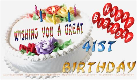 Happy 41st Birthday Wishes Birthday Wishes Images For 41st Birthday Of Anyone