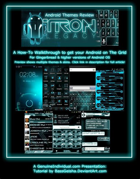 gallery themes for android tron android theme review by bassgeisha on deviantart