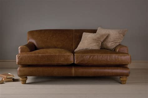 niedriges sofa the low arm leather sofa by indigo furniture