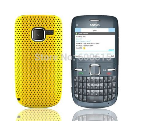 Hardcase Crom Nokia C3 new mesh back cover for nokia c3 c3 00 cellphone free shipping 1 in
