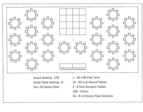 tent layout template tent layout 150 to 200 people