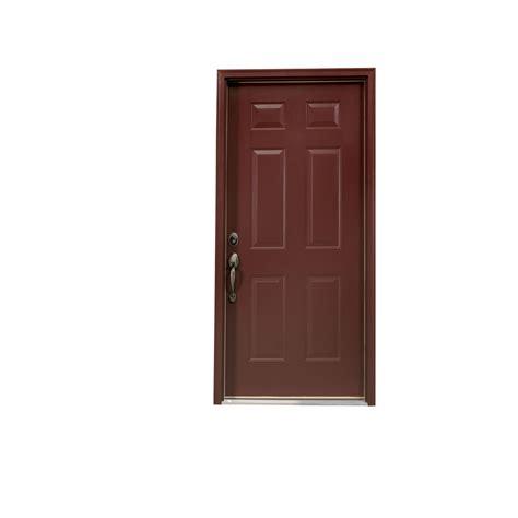 Shop Reliabilt 6 Panel Outswing Steel Entry Door At Lowes Com 6 Panel Steel Exterior Door