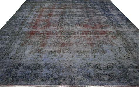 vintage overdyed tabriz 9x13 rug 80253