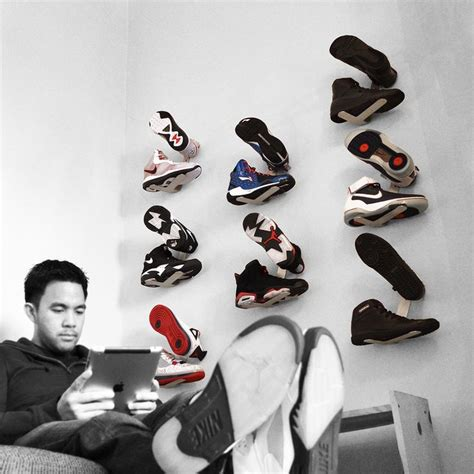 Sneaker Wall Decor by 1000 Ideas About Shoe Wall On Diy Master