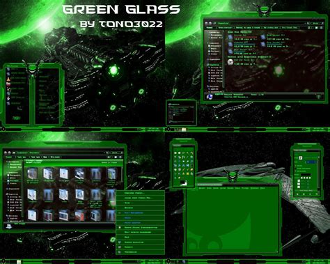 pc glass themes download windows 7 theme green glass by tono3022 on deviantart