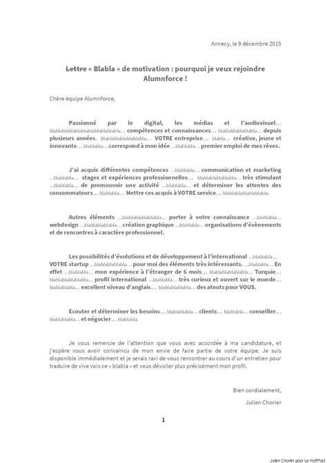 Lettre De Resiliation Journal Sud Ouest Quot Blablabla Quot Avec Une Lettre De Motivation Originale Un
