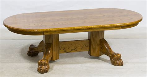 Claw Foot Coffee Table Lot 51 Oak Claw Foot Oval Coffee Table Leonard Auction Sale 206