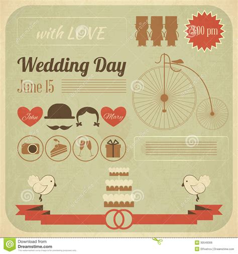 wedding infographic template wedding day invitation infographics card royalty free