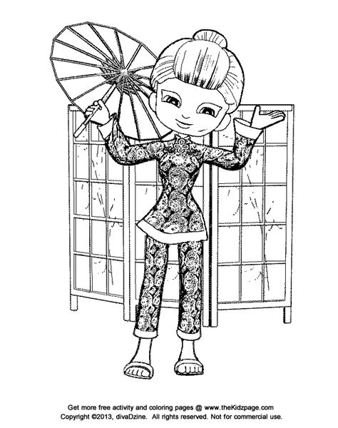 free coloring pages japanese asian flair free coloring pages for kids printable