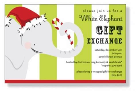 Christmas Invitations White Elephant And Invitation Templates On Pinterest White Elephant Invitations Templates