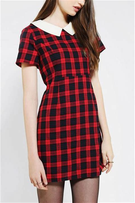 Plaid Collared Dress outfitters coincidence chance collared plaid