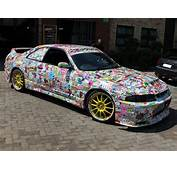 Nissan Skyline R33 Total Car Wrapping Sticker Bomb