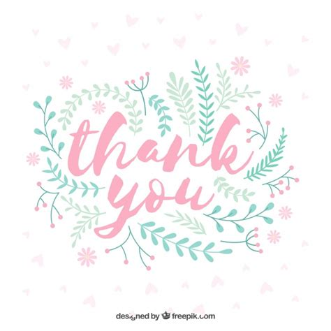 thank you background floral thank you background in vintage style vector free