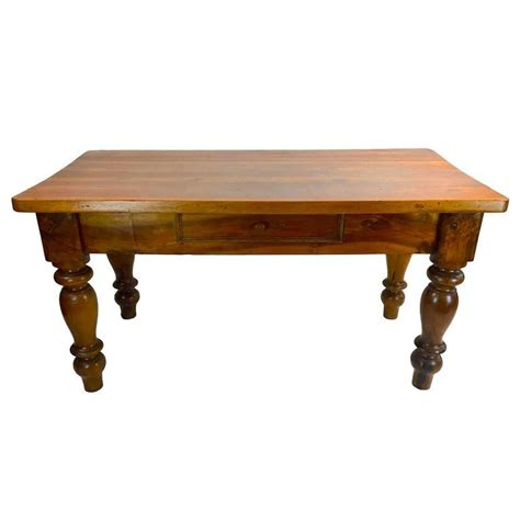 Kitchen Center Table 19th Century Italian Louis Philippe Solid Walnut Kitchen Center Table For Sale At 1stdibs