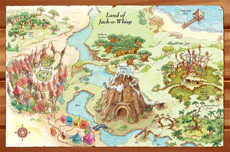 a map of the the searchers books map of the land of jackowhisp by tapp kidlit