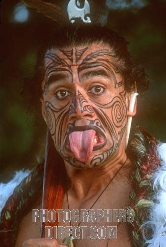 maori face tattoo with his painted to resemble traditional tribal