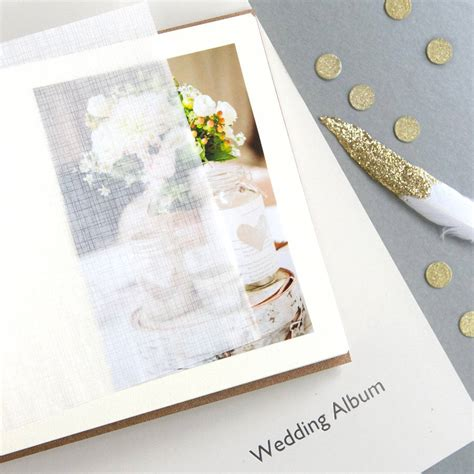 leather wedding album by begolden   notonthehighstreet.com