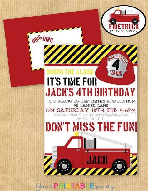 38 best images about fire truck birthday party on