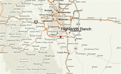 highlands ranch colorado map highlands ranch location guide