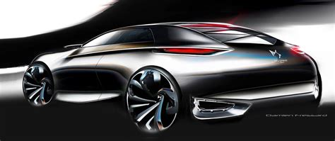Design Sketch For The 2014 citroen divine ds concepts