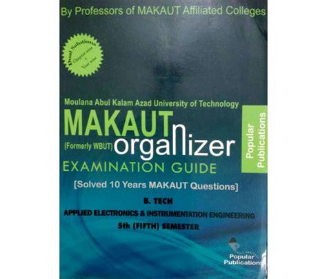Makaut Mba 3rd Sem Syllabus by Makaut Organizer B Tech Aei 5th Semester Bookkar