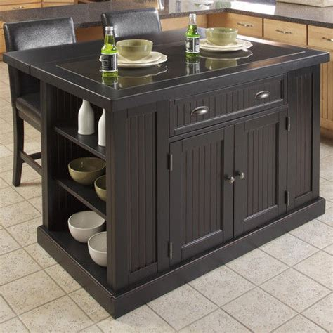 Granite Kitchen Island Table Kitchen Island Table Granite Distressed Black Storage