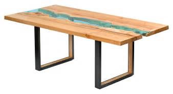 table bois reclaimed wood tables with embedded rivers by greg klassen