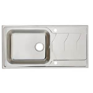 B Q Kitchen Sink Accessories Cooke Amp Lewis Buckland 1 Bowl Polished Stainless Steel