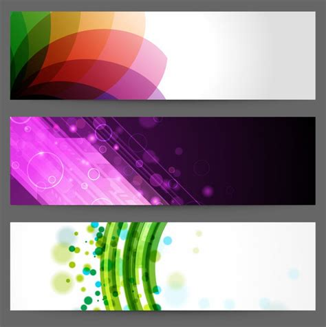 design banner online website abstract design banners free vector graphics all free