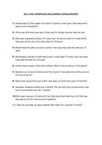 multiplication word problems decimals year 5 by