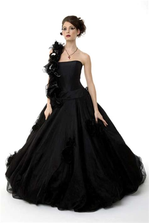 Schwarzes Brautkleid great ideas of black wedding dress gown evening