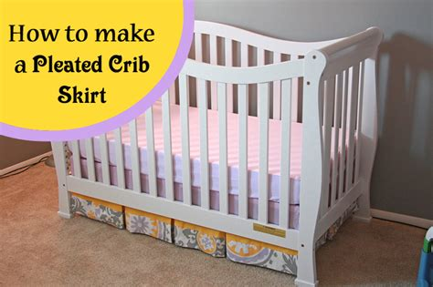 How To Sew A Crib Skirt by Runs With Spatulas Crafty Fridays How To Make A Pleated
