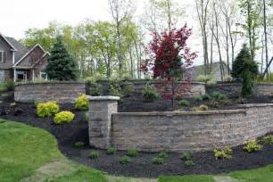 Front Yard Wall Design - landscaping landscaping ideas front yard retaining walls