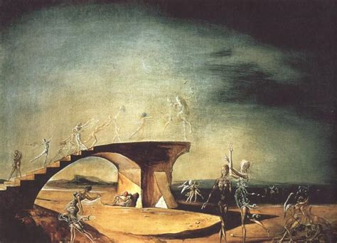 the broken bridge and the dream 1945 salvador dali wikiart org