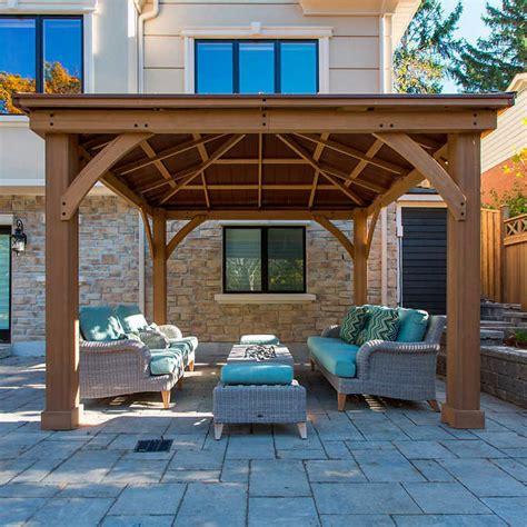 gazebo 12x12 12 x 12 wood gazebo heavy duty outdoor aluminum roof for