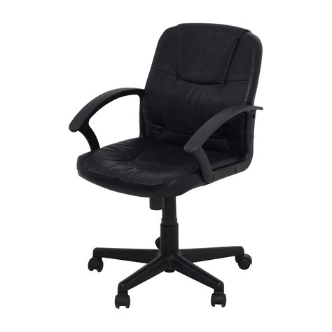 black leather adjustable desk chair chairs
