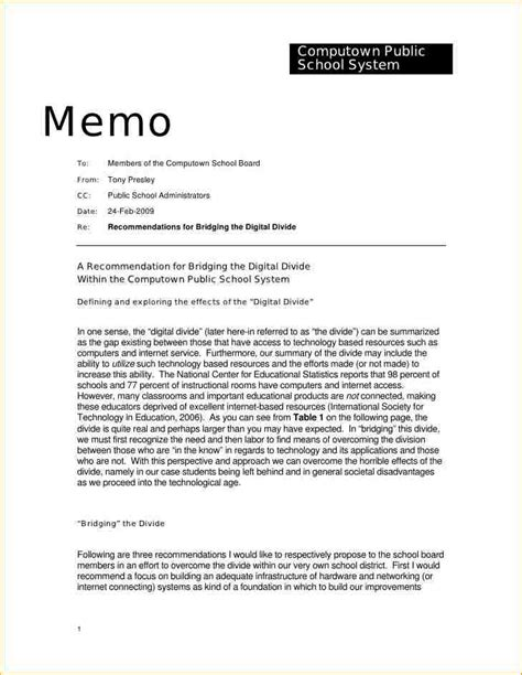 template of memo 7 letter of memorandum exle academic resume template