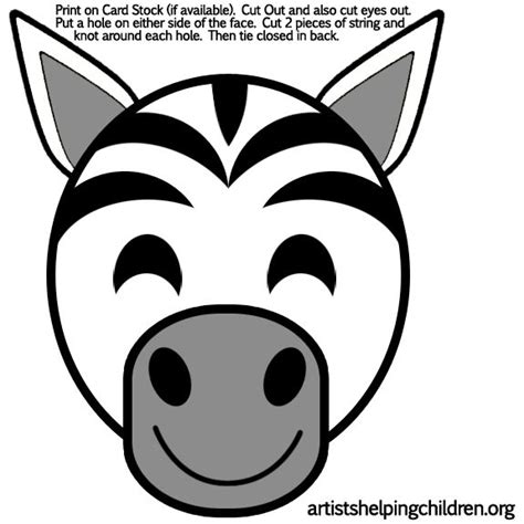 zebra template printable the world s catalog of ideas